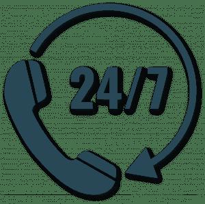 24/7 bereikbaar voor onze klanten